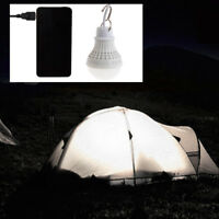 USB 5W 10 LED Energy Saving  Bulb Light Camping Home Night Lamp Hook Switch Wire