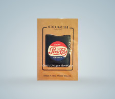 """COACH LEATHER 'PEPSI-COLA"""" PHONE WALLET**NEW**AUTHENTIC**"""