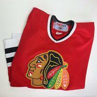 Vintage CCM Chicago Blackhawks Blank Red Hockey Jersey NHL Mens Size Large