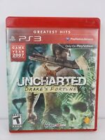 Uncharted: Drake's Fortune Greatest Hits Edition Sony PlayStation 3 PS3 2009 CIB