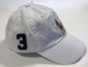 Polo Ralph Lauren Sport Chino Big Pony Baseball Cap Hat cotton 59cm