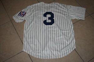 New Babe Ruth New York Yankees Cream Pinstripe Baseball Jersey Adult Men's Large