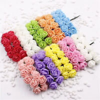 144pcs Mini Foam Rose fake Artificial Flowers Rose Bouquet Home Wedding Decor KT