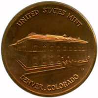 United States Mint Denver, Colorado Commemorative Copper Round Medal Token