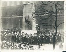1929 London England Anzac Day At The Cenotaph In Whitehall Press Photo