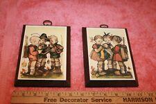 2 Vintage Original Hummel Prints on Wood Block 1981 Ars Edition - 3 Kids