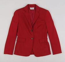 New Akris Punto Made In Switzerland Red Soft Wool/Angora Blazer US Women's 6