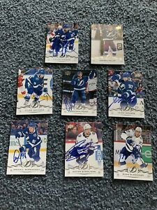 TAMPA BAY LIGHTNING Autographed 8 CARDS 2018-2019 UPPER DECK 2020 Stanley Cup
