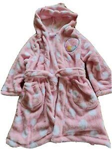 Girls Peppa Pig Dressing Gown / Bathrobe. Age 3-4 Years.