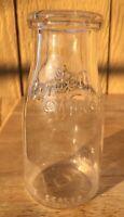 BORDEN WIELAND  HALF PINT GLASS MILK BOTTLE CHICAGO ILLINOIS