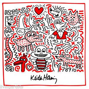 Keith Haring BUSY BEE 12x12 Giclee Pop Art Print **SALE