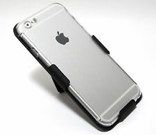 """For iPhone 6 (4.7"""") 360° FULL Body Protection Clear Case + BELT CLIP HOLSTER"""
