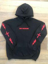 The Weeknd Hoodie Starboy Cross and Lightning Design Black (Red Print)