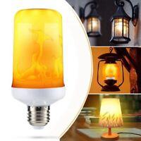 E27 LED Flame Fire Effect Simulated Nature Light Bulb Decor Atmosphere Lamp