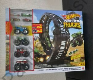 Hot Wheels Monster Truck Loop Challenge Toy Gift Xmas Set New christmas L@@K