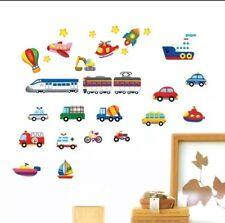 Trains planes boats cars wall decal sticker baby nursery boy