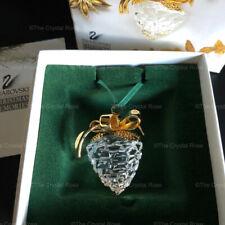 RARE Retired Swarovski Crystal Christmas Memories Pine Cone Ornament 209452 Mint