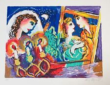 "Zamy Steynovitz ""Bride and Groom"" Signed Numbered Serigraph Jewish Lovers art"