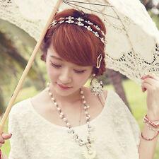*UK Ladies Crystal silver hair headband hijab jewellery party prom bridal brooch