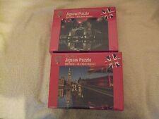 London Big Ben & Fireworks at Tower Bridge 2 X 500 piece jigsaw puzzles