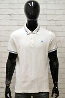 Polo LOTTO Uomo Taglia Size XL Maglietta Maglia Camicia Shirt Man Cotone Bianco
