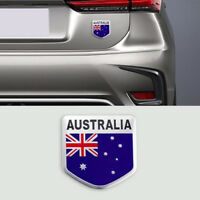 2PCS Aussie Shield Australia AU Flag Emblem Logo Moto Boot 3D Badge Car Sticker