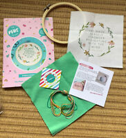 Bookishly / Make Arcade Embroidery Kit - Secret Garden Quote - With Hoop - New