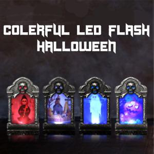 Deko Grabstein LED beleuchtet, Halloween Dekoration gravestone led