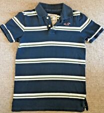 HOLLISTER POLO SHIRT / MENS / GUYS /  SMALL  / BLUE WITH STRIPES / POLO SHIRT