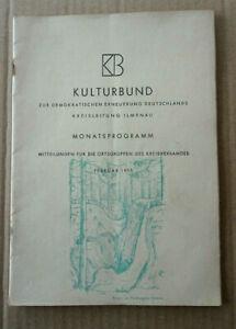 Broschüre Ilmenauer Kulturbund