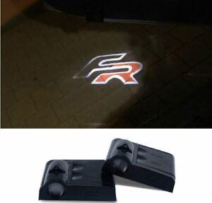 2 LED Logo Light Shadow Projector Car Door Courtesy Laser For Seat FR Ibiza