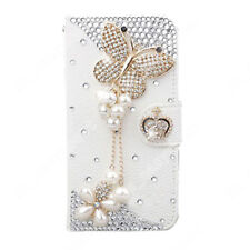US Bling Diamond Flip Leather Wallet Stand Soft Case Cover For iPhone/Samsung/LG