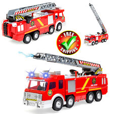 Toy Fire Truck Toy Lights Sound Ladder Brigade Hose Electric Fire Engine Vehicle