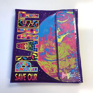 Lisa Frank Save The Planet Binder Vintage With Folders