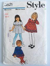 Retro 1970s Child's Dress Pattern   Size 2   Vintage STYLE 3821