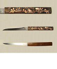 Japanese Edo Period,Samurai Kozuka with Kogatana - Karakos Pulling Wagon