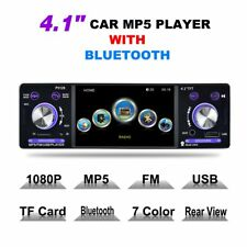 """4.1"""" HD LCD Touch Screen Car MP5 Player 1080P 7 Color Button FM/AM/RDS Tuner LN"""