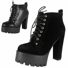 "Women's 100% Leather Block Very High Heel (greater than 4.5"") Boots"