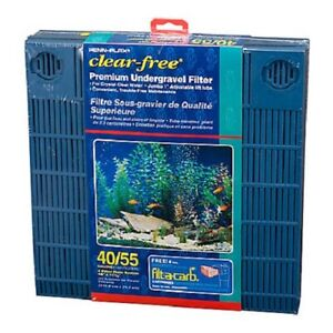 Penn Plax Premium Under Gravel Filter System - for 40-55 Gallon Fish Tanks &