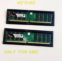 8GB 2X4GB DDR2 PC2-6400U 800MHZ  DIMM Only For AMD Motherboard Desktop US Stock