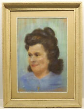 """ Frau,Dame Portrait ""Pastell/Mischt.. sign./dat. AM Chemidling 50 in Rahmen"