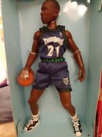 "1998 KEVIN GARNET TIMBERWOLVES 12"" POSEABLE FIGURINE LIFE-LIKE AND COLLECTABLE"
