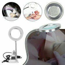8x Magnifying Glass Light Lamp Desk Reading Light Clamp Salon Makeup Nail Tattoo