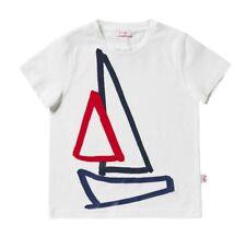 IL GUFO Jungen T-Shirt mit Segelboot-Print blau/rot Gr. 110-140 NEU%%%