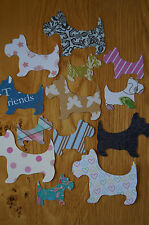 25 Westhighland Terrier Westie Dog Die-Cut/Cut Outs Mixed Colour/Sizes Cardstock