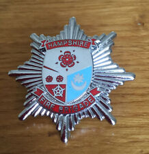 An old Hampshire  Fire Brigade, cap badge.