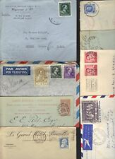 Belgium 1918-1950s Coll. Of 16 Covers & Cards Inc 1 Reg. & 1 Fdc & 1910 Brussels