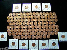 1959-2018 LINCOLN MEMORIAL BU CENT SET with all 7- 1982's & 1960 P+D Sm. Dates