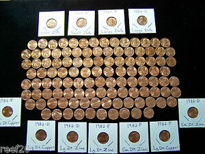 1959-2021 LINCOLN MEMORIAL BU CENT SET with all 7- 1982's & 1960 P+D Sm. Dates