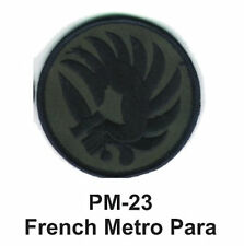 "3"" FRENCH METRO PARA Embroidered Military Patch"